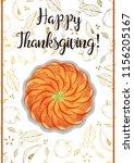 thanksgiving day poster.... | Shutterstock .eps vector #1156205167