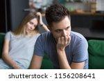 upset frustrated boyfriend... | Shutterstock . vector #1156208641