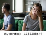 tired frustrated wife feeling... | Shutterstock . vector #1156208644