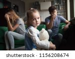 frustrated little girl upset... | Shutterstock . vector #1156208674