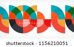 minimal circle abstract... | Shutterstock .eps vector #1156210051