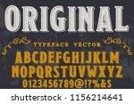 classic vintage decorative font ... | Shutterstock .eps vector #1156214641