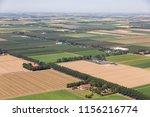 aerial view dutch polder... | Shutterstock . vector #1156216774