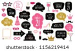 photo booth props set for... | Shutterstock .eps vector #1156219414