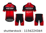 cycling jerseys mockup t shirt... | Shutterstock .eps vector #1156224364