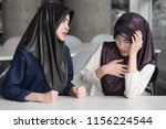 angry  upset  frustrated islam... | Shutterstock . vector #1156224544