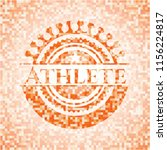athlete abstract emblem  orange ...   Shutterstock .eps vector #1156224817