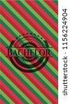 bachelor christmas emblem...   Shutterstock .eps vector #1156224904
