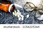 eye glasses and vitamin a  in... | Shutterstock . vector #1156225264