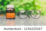 eye glasses and vitamin a  in... | Shutterstock . vector #1156225267