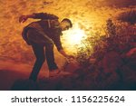 silhouette of young man in... | Shutterstock . vector #1156225624