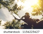 a motorcycle on nature park and ... | Shutterstock . vector #1156225627