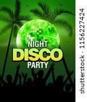 summer beach party disco poster ... | Shutterstock .eps vector #1156227424