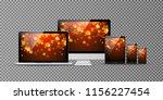 computer monitor  smartphone ... | Shutterstock .eps vector #1156227454