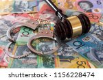 Judge\'s Gavel With Handcuffs O...
