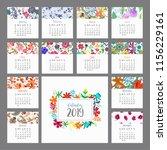 Calendar 2019. Floral Calendar...