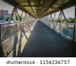a photo of the long and empty... | Shutterstock . vector #1156236757