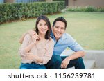 happy asian couple in love... | Shutterstock . vector #1156239781