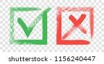 tick and cross sign elements.... | Shutterstock .eps vector #1156240447