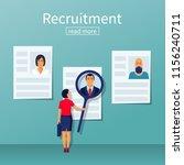 recruitment concept.... | Shutterstock .eps vector #1156240711