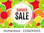 abstract summer sale background ... | Shutterstock . vector #1156243201