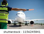 important signal. back view of... | Shutterstock . vector #1156245841