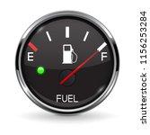 fuel gauge. full tank. round... | Shutterstock .eps vector #1156253284
