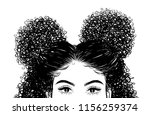 curly beauty girl illustration... | Shutterstock .eps vector #1156259374