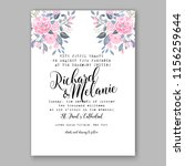 wedding invitation floral... | Shutterstock .eps vector #1156259644