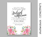 wedding invitation floral...   Shutterstock .eps vector #1156259671
