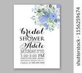wedding invitation floral... | Shutterstock .eps vector #1156259674