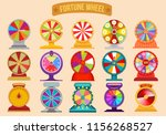 set of roulette fortune... | Shutterstock .eps vector #1156268527