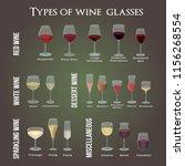 type of wine glasses. for red   ... | Shutterstock .eps vector #1156268554