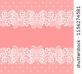 seamless lace border. vector... | Shutterstock .eps vector #1156274581