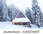 winter landscape. winter nature.... | Shutterstock . vector #1156276507