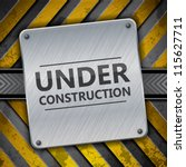 under construction metal sign... | Shutterstock .eps vector #115627711