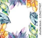 colorful diamond rock jewelry...   Shutterstock . vector #1156277437
