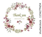 wreath. flower frame with pink... | Shutterstock . vector #1156279654