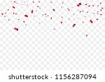 many falling red tiny confetti... | Shutterstock .eps vector #1156287094