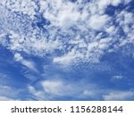 white summer clouds on blue sky | Shutterstock . vector #1156288144