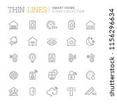 collection of smart home line... | Shutterstock .eps vector #1156296634