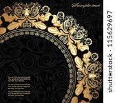 invitation card with lace... | Shutterstock .eps vector #115629697