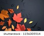 folded paper art origami.... | Shutterstock . vector #1156305514