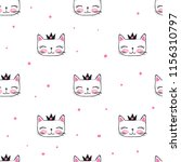 abstract seamless cats pattern. ... | Shutterstock .eps vector #1156310797