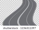vector winding four lane road... | Shutterstock .eps vector #1156311397