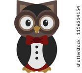 owl in vampire costume   cute... | Shutterstock .eps vector #1156314154