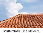orange roof tile pattern over... | Shutterstock . vector #1156319071