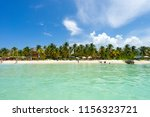 playa norte a popular beach and ... | Shutterstock . vector #1156323721