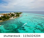 an aerial view of isla mujeres... | Shutterstock . vector #1156324204