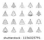 christmas tree thin line icon... | Shutterstock .eps vector #1156325791